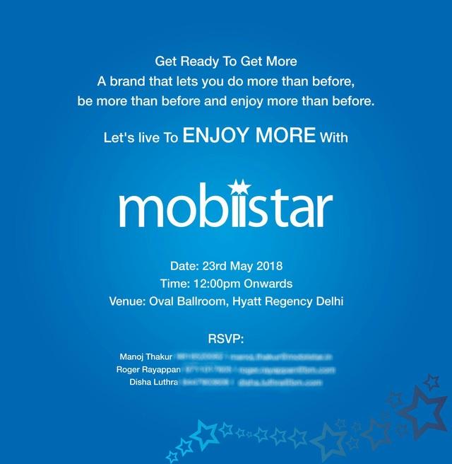 Thư mời của MobiiStar tới báo giới Ấn Độ