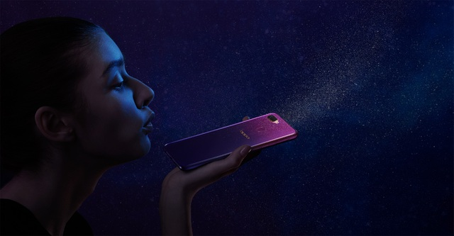 Smartphone F9 Tím Tinh Tú vừa ra mắt của OPPO