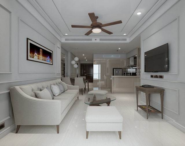 Sang trọng và đẳng cấp trong từng chi tiết tại căn hộ Luxury Apartment