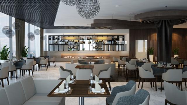Nhà hàng đẳng cấp nằm trên tầng 32 của khu căn hộ