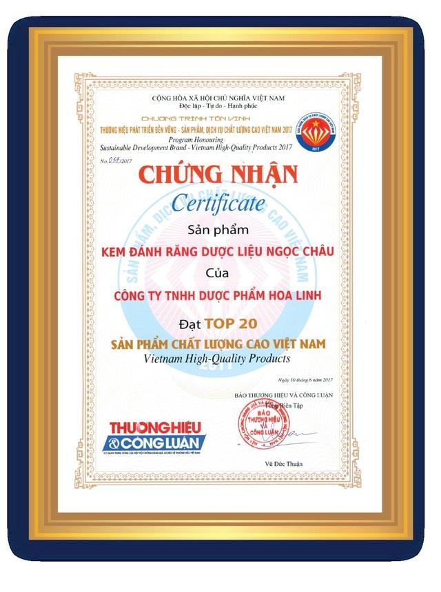 Buổi lễ tôn vinh thương hiệu, sản phẩm, dịch vụ được cấp chứng nhận được tổ chức tại Nhà hát Ca, Múa, Nhạc Việt Nam số 8 Huỳnh Thúc Kháng, Hà Nội vào ngày 10/6/2017