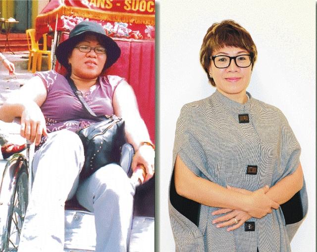 Bác sĩ Bùi Tuyết Mai Mai trước và sau khi áp dụng liệu pháp giảm cân đặc biệt của mình