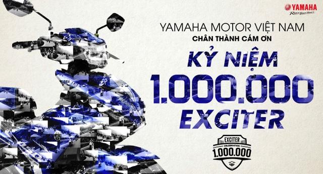 Yamaha Việt Nam tổ chức chuỗi sự kiện Kỷ niệm 1.000.000 Exciter được bán ra.