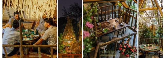 … những vị trí ngồi tại nhà hàng này đều tái hiện đồng quê Việt Nam một cách chân thật nhất, chấm phá hoàn thiện cho vẻ đẹp của bức tranh.