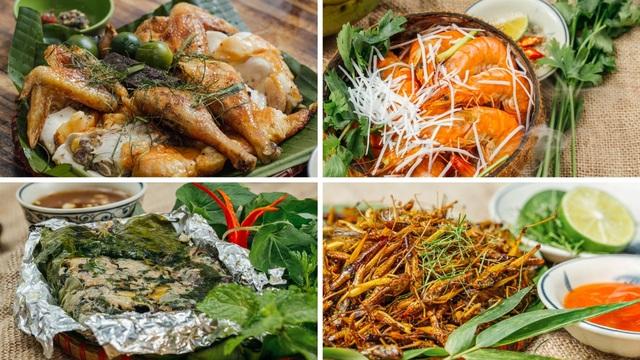 Món ăn ở đây cũng đậm chất đồng quê Việt Nam.
