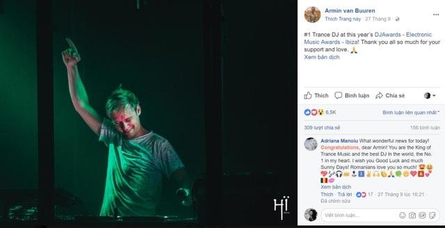 Cho tới nay Armin vẫn chứng tỏ được sức hút của mình với hơn 8 triệu người theo dõi trên Facebook.