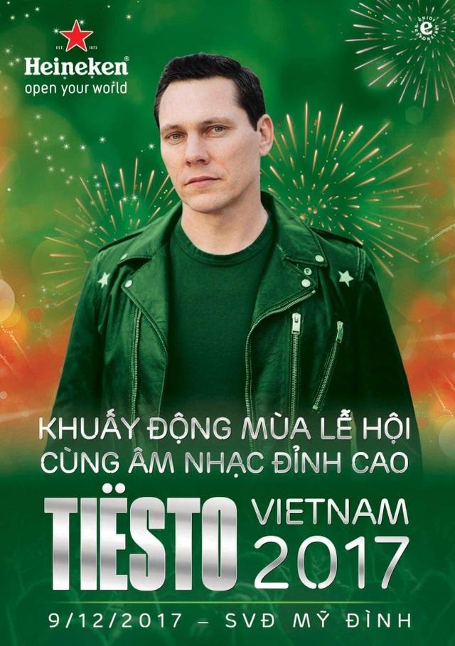 Hãy sẵn sàng để bùng nổ cùng Tiesto Việt Nam 2017