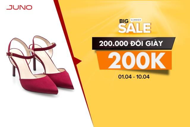 """Mẫu giày chống ế """"gây sốt"""" cộng đồng mạng thời gian qua sẽ được bán với mức giá 200.000 trong đợt Big Summer Sale."""