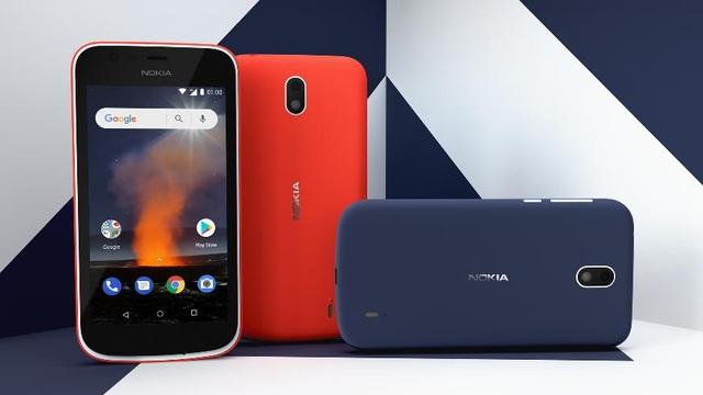 Nokia 1 – có mức giá 1.890.000đ. Nokia 1 được trang bị hệ điều hành Android OreoTM, RAM 1GB. Nokia 1 có thể thay đổi diện mạo với nắp lưng Xpress-on nhiều màu sắc, giúp người dùng thể hiện được phong cách cá nhân.