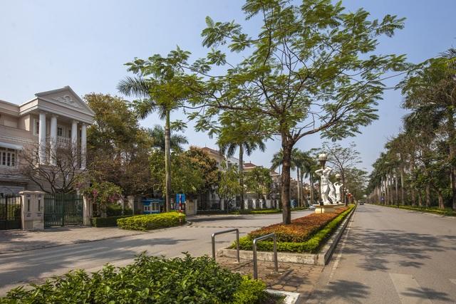 Không gian sống xanh trải dài trên các cung đường nội khu Ciputra