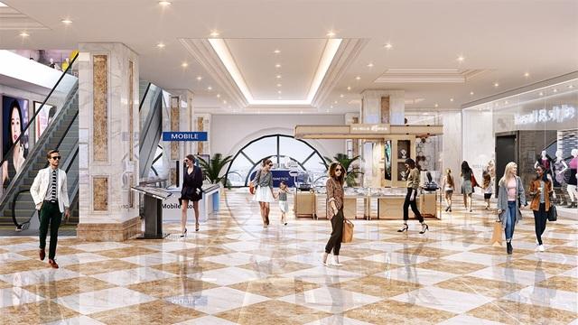 Trung tâm thương mại sầm uất với hàng trăm gian hàng từ các nhãn hiệu nổi tiếng tại Hateco Laroma