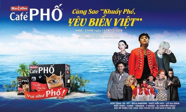 Chương trình Khuấy Phố, Yêu Biển Việt quy tụ nhiều ngôi sao hàng đầu V-pop