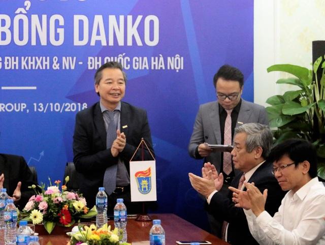 GS.TS Phạm Quang Minh - Hiệu trường trường ĐH KHXH&NV, ĐH Quốc gia HN phát biểu tại buổi lễ
