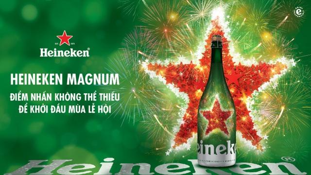 Heineken Magnum với sự sang trọng, tinh tế đến từng chi tiết nhỏ nhất sẽ mang đến trải nghiệm đẳng cấp, sành điệu cho người hâm mộ.