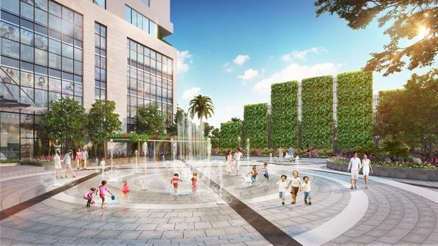 Phối cảnh minh họa sân chơi nước dự án Rivera Park