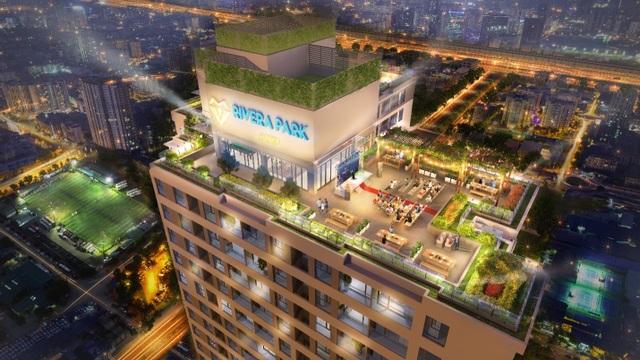 Phối cảnh minh họa tiện ích tầng mái dự án Rivera Park Hà Nội