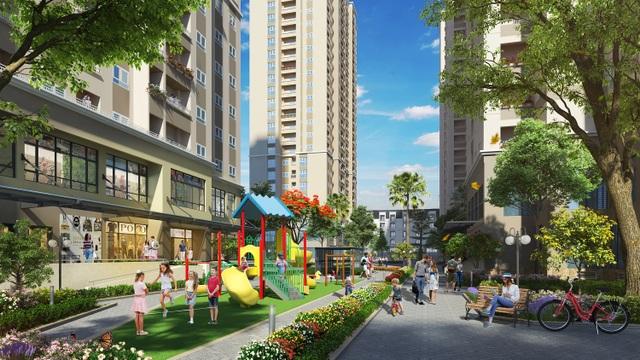 Mipec City View có tiện ích nội khu đầy đủ với khu vui chơi trẻ em, khu tập gym ngoài trời, đường dạo bộ,…