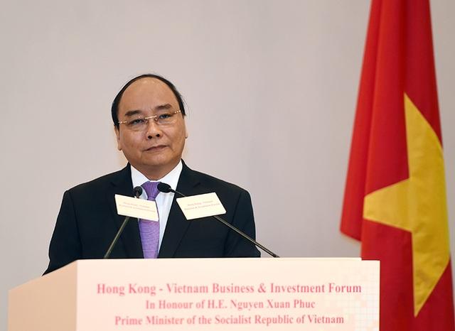 Thủ tướng phát biểu tại Diễn đàn Kinh doanh và Đầu tư Hồng Kông – Việt Nam (Ảnh: VGP)