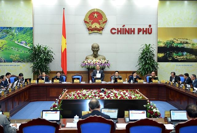 Toàn cảnh phiên họp thường kỳ của Chính phủ (ảnh: VGP)