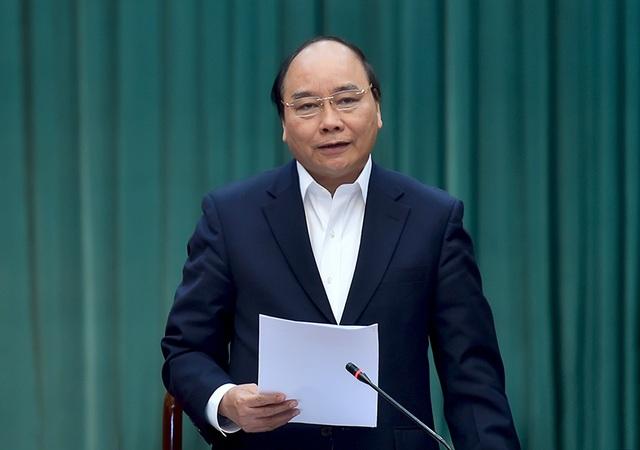 Thủ tướng phát biểu chỉ đạo tại cuộc làm việc với lãnh đạo chủ chốt tỉnh Hưng Yên (ảnh: VGP)
