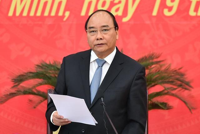 Thủ tướng phát biểu tại buổi làm việc (Ảnh VGP)