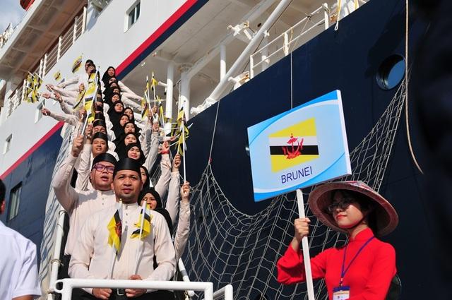 Đoàn đại biểu thanh niên Brunei.