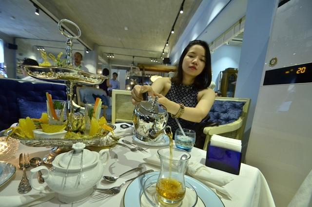 Một bàn trà theo phong cách người Thổ.