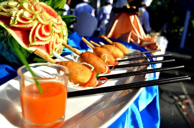 Món chạo của Việt Nam lên bàn tiệc với một hình ảnh sang trọng khác hẳn được các đầu bếp Việt thể hiện.