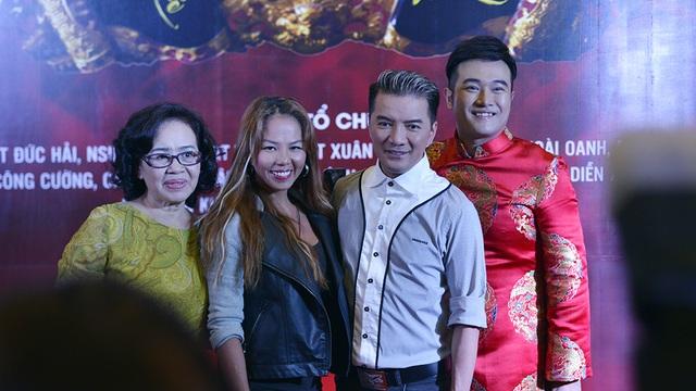 Ca sĩ Đàm Vĩnh Hưng, diễn viên Thuý Uyên và Minh Quân.