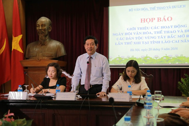 Thứ trưởng Huỳnh Vĩnh Ái phát biểu tại cuộc họp. Ảnh: HM.