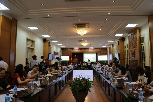 Toàn cảnh buổi họp báo giới thiệu về kế hoạch tổ chức Ngày hội VHTTDL các dân tộc vùng Tây Bắc mở rộng. Ảnh: HM.
