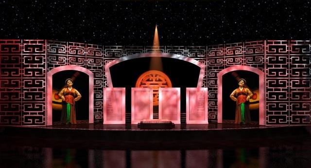 Hình ảnh sân khấu của liveshow Xuân Hinh.