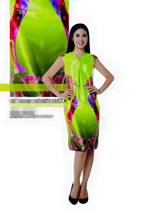 Một mẫu đầm do Hoa hậu Ngọc Hân làm người mẫu của NTK Đỗ Trịnh Hoài Nam. Ảnh: NVCC.