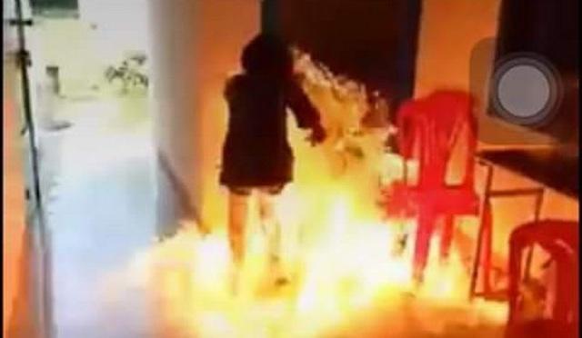 Hành động đốt trường của cô bé lớp 8 ở Khánh Hoà bị nhiều người lên án. Ảnh: TL.