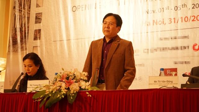 Ông Vương Duy Biên phát biểu tại cuộc họp. Ảnh: ĐV.