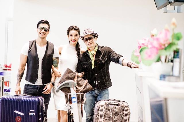 Đi cùng vợ chồng nam đạo diễn Dustin Nguyễn là diễn viên trẻ Thiên Nguyễn. Đây là lần đầu tiên Thiên Nguyễn và Bebe tham dự liên hoan phim này nên cả hai rất háo hức.