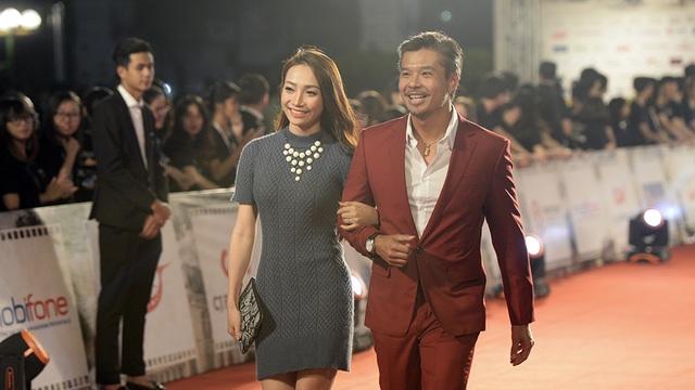 Nam diễn viên Việt kiều Lâm Vissay và một nữ diễn viên.