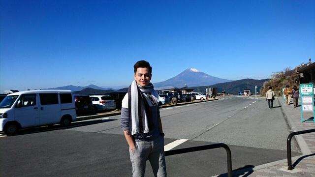 Danh Tùng trong chuyến đi Nhật mới đây. Ảnh: NVCC.