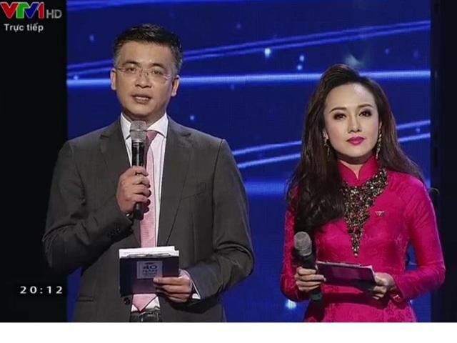 Hình ảnh của BTV Hoài Anh thay đổi theo từng ngày trên sóng truyền hình. Ảnh là cảnh BTV Hoài Anh dẫn chương trình cùng BTV Quang Minh của ban Thời sự VTV vào năm 2015.