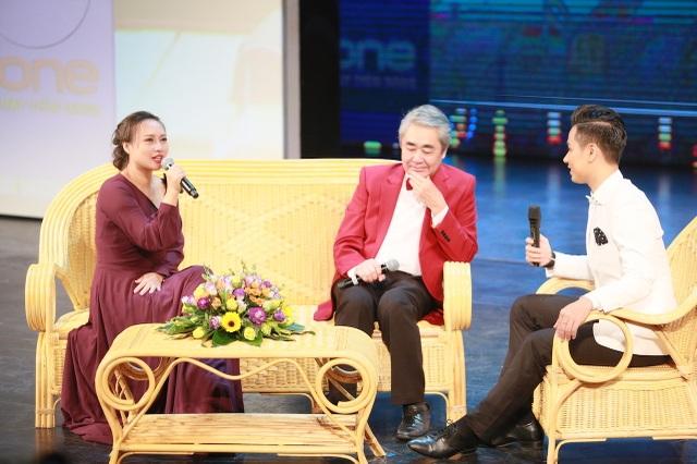 NSND Quang Thọ và ca sĩ Khánh Linh.