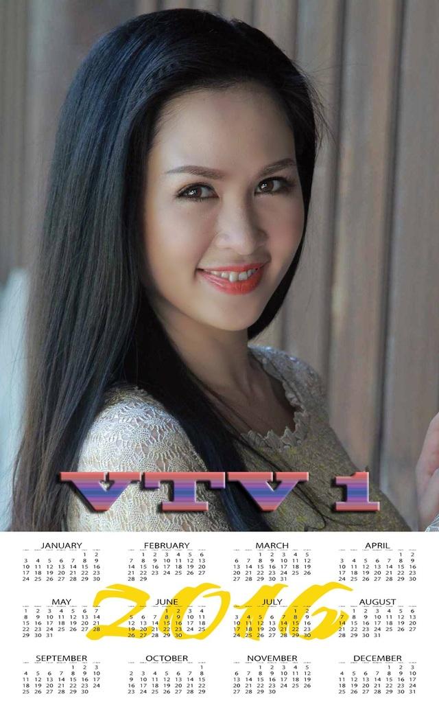 Thuý Hằng được chọn là gương mặt ảnh lịch của VTV 2016.