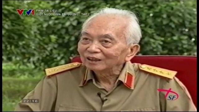"""Hình ảnh Đại tướng Võ Nguyên Giáp trong phim """"Giọt nước giữa đại dương"""". Ảnh: TL."""