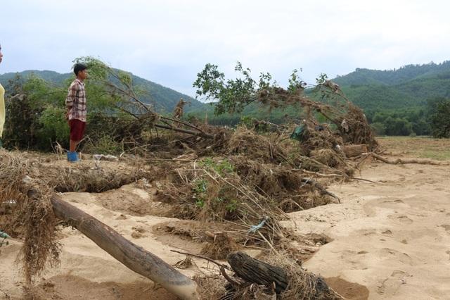 Huyện Hương Khê chịu thiệt hại nặng nề trong trận lũ vừa qua.