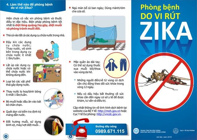 Bộ Y tế khuyến cáo, biện pháp phòng Zika hữu hiệu nhất là phòng ngừa muỗi đốt.