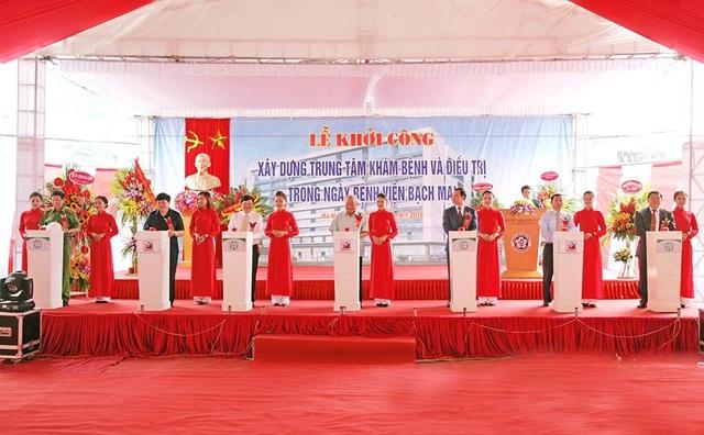 Bệnh viện Bạch Mai xây dựng trung tâm điều trị có sân đỗ trực thăng - 1