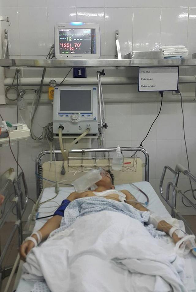 Bệnh nhân sau ca phẫu thuật. Ảnh: BS cung cấp.