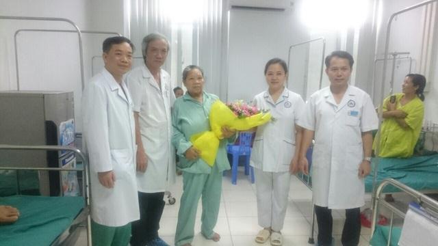 Bệnh nhân khỏe mạnh ngày xuất viện.