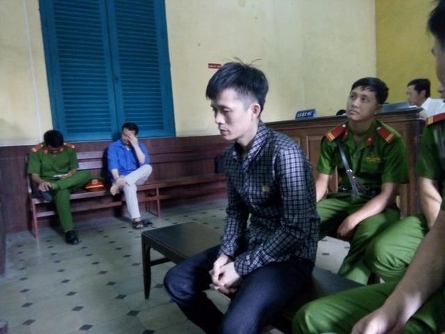 Bị cáo Hoàng tại phiên tòa