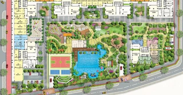 Cảnh quan cũng là yếu tố hút khách vì Saigon South Residences có diện tích khu đất rộng gần 33.000m2 nhưng diện tích đất dành cho xây dựng chỉ hơn 9.500m2, phần còn lại là không gian xanh mở, công trình tiện ích.