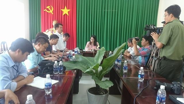 Các cơ quan chức năng tỉnh Bà Rịa - Vũng Tàu tiến hành công bố thông tin chính thức